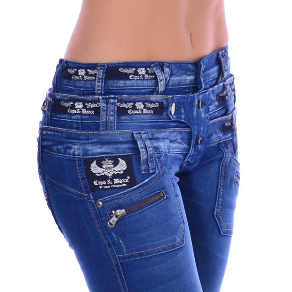 Cipo & Baxx Damen Jeans Denim Stretch CBW 282 W30 L34
