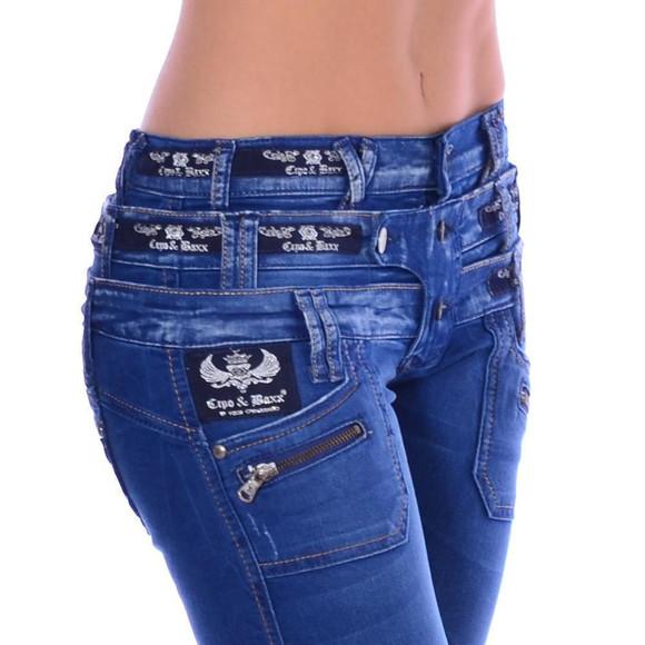 Cipo & Baxx CBW 282 Damen Frauen Jeans Hose Jeanshose...
