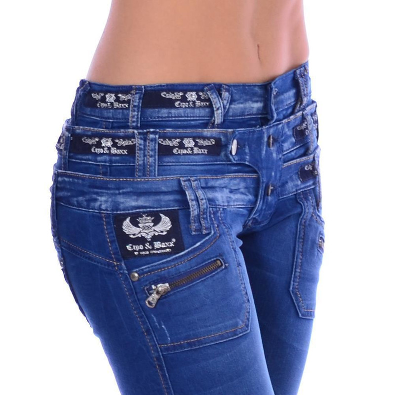 Cipo & Baxx Damen Jeans Denim Stretch CBW 282 W32 L34