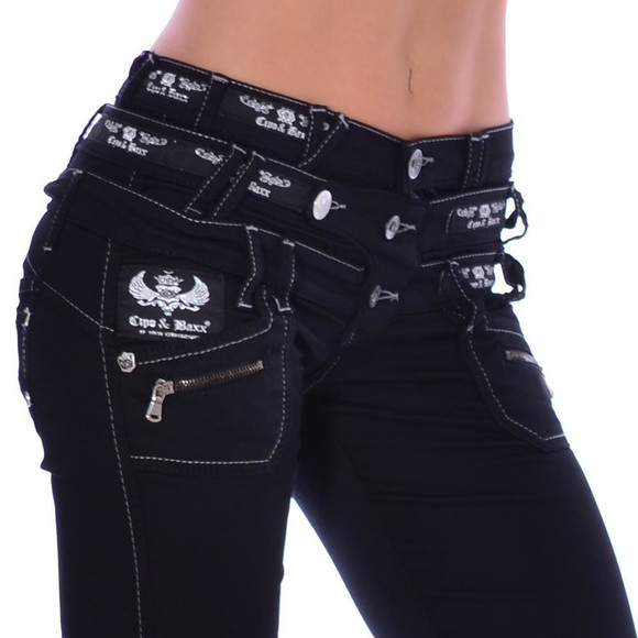Cipo & Baxx CBW 313 Damen Frauen Jeans Hose Stretch...