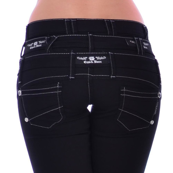 Cipo & Baxx Damen Jeans Denim Stretch CBW 313 W29 L32