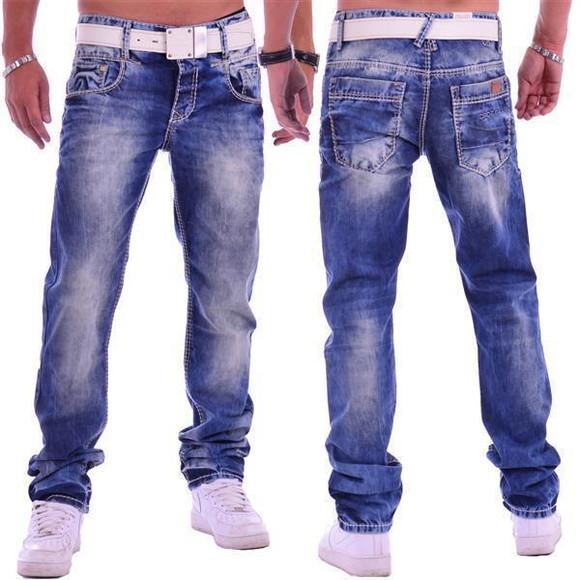 Cipo & Baxx C 1149 Herren Männer Jeans Hose Denim blue blau dicke Nähte Regular