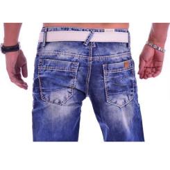 Cipo & Baxx C 1149 Herren Männer Jeans Hose Denim blue blau dicke Nähte Regular W34 L32