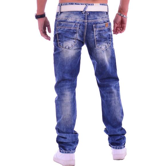 Cipo & Baxx C 1149 Herren Männer Jeans Hose Denim blue blau dicke Nähte Regular W34 L34
