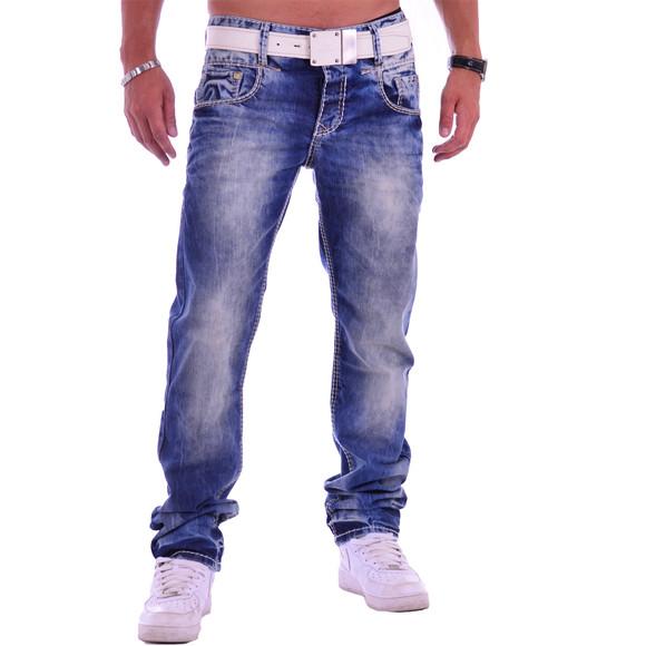 Cipo & Baxx C 1149 Herren Männer Jeans Hose Denim blue blau dicke Nähte Regular W38 L34
