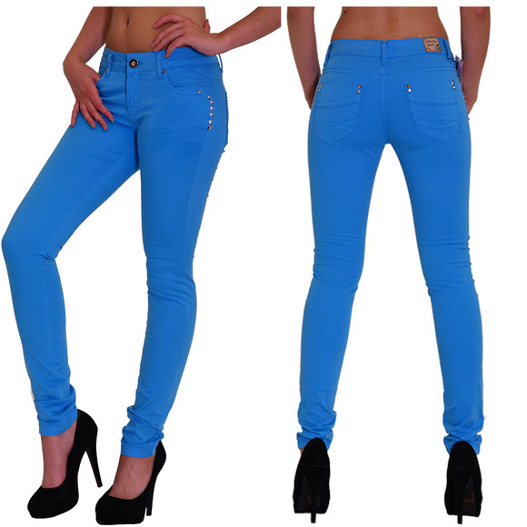 Redbridge Damen Chino Hose Skinny Slim Fit BLAU RBW 3009