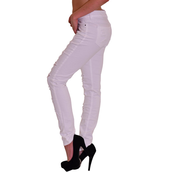 Redbridge  by Cipo & Baxx Damen Jeans Hose weiss R-42008 W29 L32