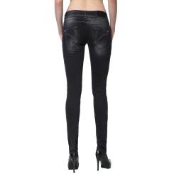 Cipo & Baxx CBW 655 Damen Jeans Stretch Denim Hose Frauen Jeanshose used schwarz W29 L34