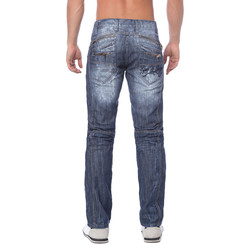 Cipo & Baxx C 751 Herren Denim raw Jeans Hose Jeanshose Männer Zipper blau blue W28 L32