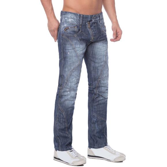 Cipo & Baxx C 751 Herren Denim raw Jeans Hose Jeanshose Männer Zipper blau blue W34 L36