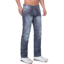 Cipo & Baxx C 751 Herren Denim raw Jeans Hose Jeanshose Männer Zipper blau blue W36 L36