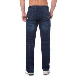 Cipo & Baxx C 768 Herren Jeans Hose Denim dark blue dunkel blau Zipper Regular W31 L32