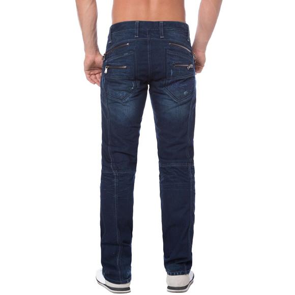 Cipo & Baxx C 768 Herren Jeans Hose Denim dark blue dunkel blau Zipper Regular W30 L34