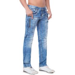 Cipo & Baxx C 1150 Herren Jeans Hose Denim blue blau Zipper Regular Straight Cut W33 L32