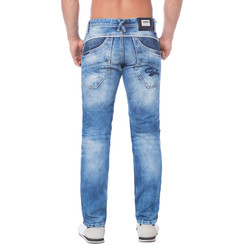 Cipo & Baxx C 1150 Herren Jeans Hose Denim blue blau Zipper Regular Straight Cut W34 L32