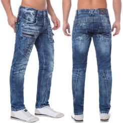 Cipo & Baxx C 1178 Herren Denim Jeans Hose Männer Jeanshose blau blue Zipper W32 L34
