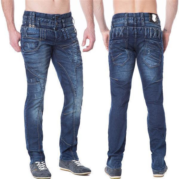 Cipo & Baxx C 1180 Herren Men Jeans Hose Denim dark blue...