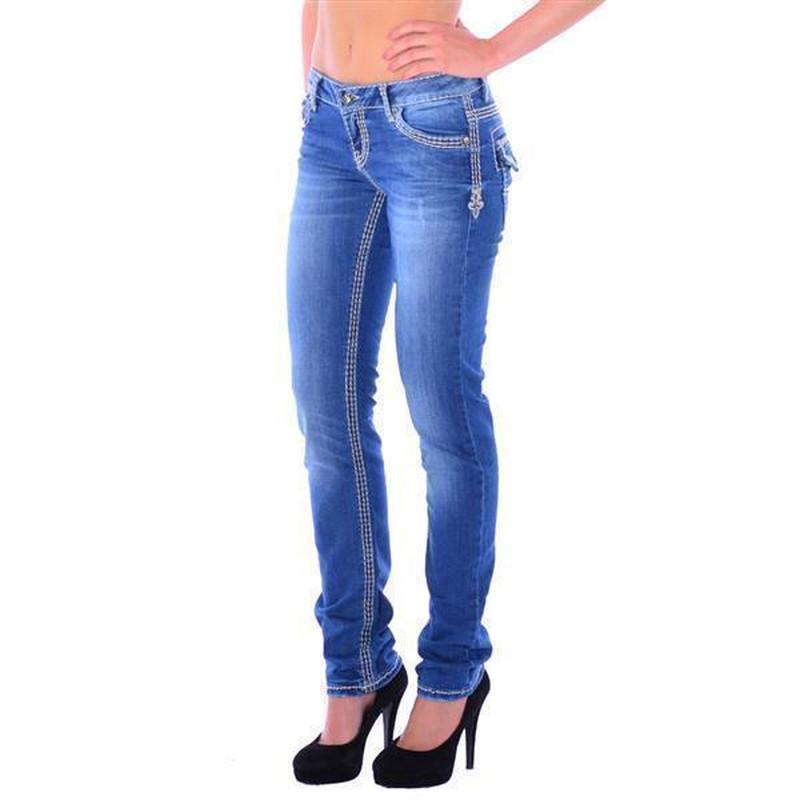 cipo baxx damen denim blue jeans skull dicke wei e n hte. Black Bedroom Furniture Sets. Home Design Ideas