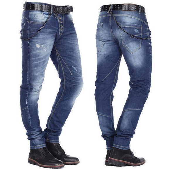 Cipo & Baxx Herren Denim coole Designer Jeans Slim Fit...