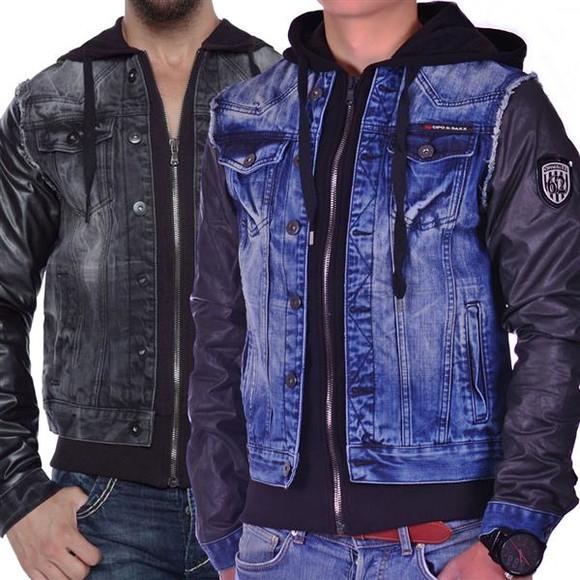 Cipo & Baxx C 1290 Herren Jeans Biker Jacke...