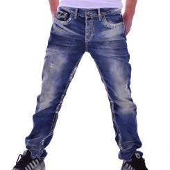 Cipo & Baxx CD 149 Herren Jeans Denim blau blue Jeanshose Men dicke weiße Nähte W33L34