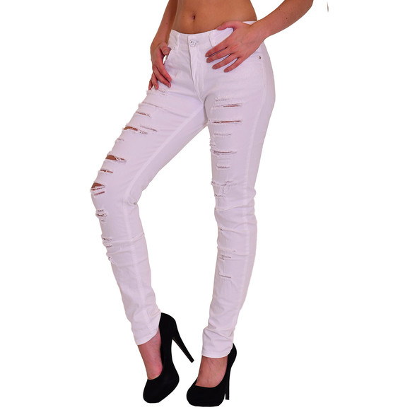 Redbridge by Cipo & Baxx Damen Jeans Hose weiss R-42008 W27 L32