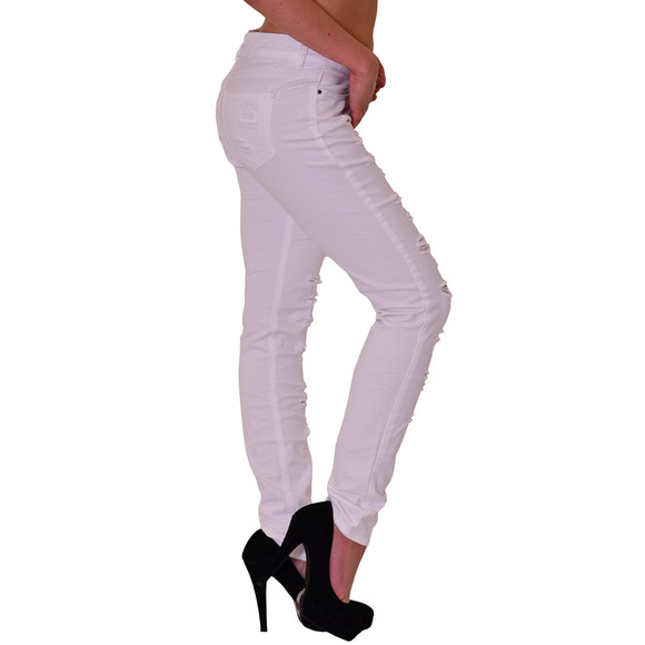 Redbridge by Cipo & Baxx Damen Jeans Hose weiss R-42008 W28 L34