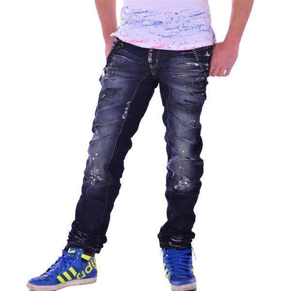 Cipo & Baxx Herren Jeans Denim blue blau used look dirty...