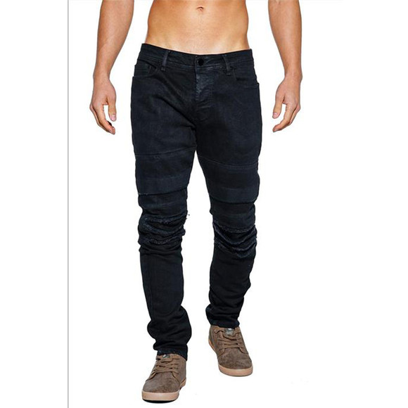 FREESIDE Herren Jeans Black Destroyed Kechrama