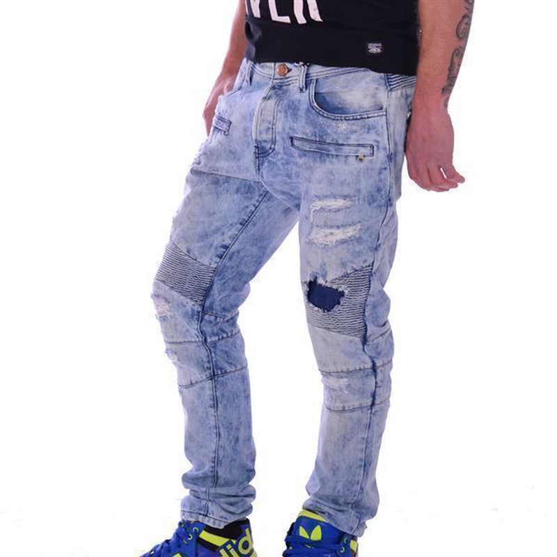 freeside herren denim jeans blau destroyed stepp look angesagte st 49 80. Black Bedroom Furniture Sets. Home Design Ideas