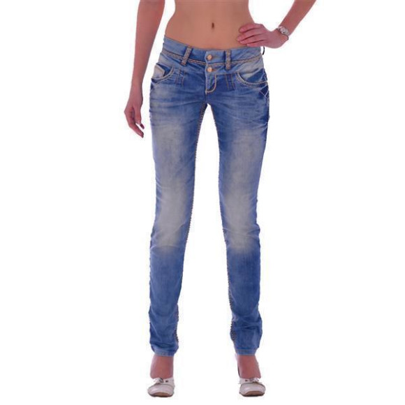 Cipo & Baxx CBW 347A Damen Frauen Jeans Hose Jeanshose Denim blue blau hellblau W31 L32