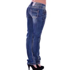 Cipo & Baxx WD 153 Damen Jeans Hose blau blue Frauen Jeanshose Used Look Denim W29 L32