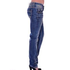 Cipo & Baxx WD 153 Damen Jeans Hose blau blue Frauen Jeanshose Used Look Denim W30 L32