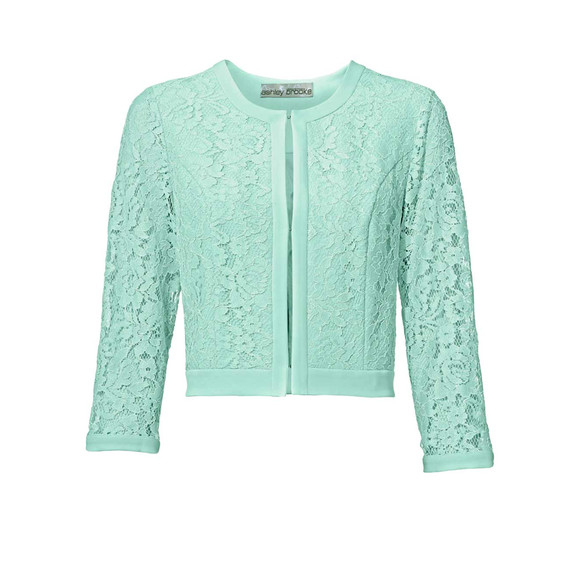 Spitzen-Jacke, mint von Ashley Brooke