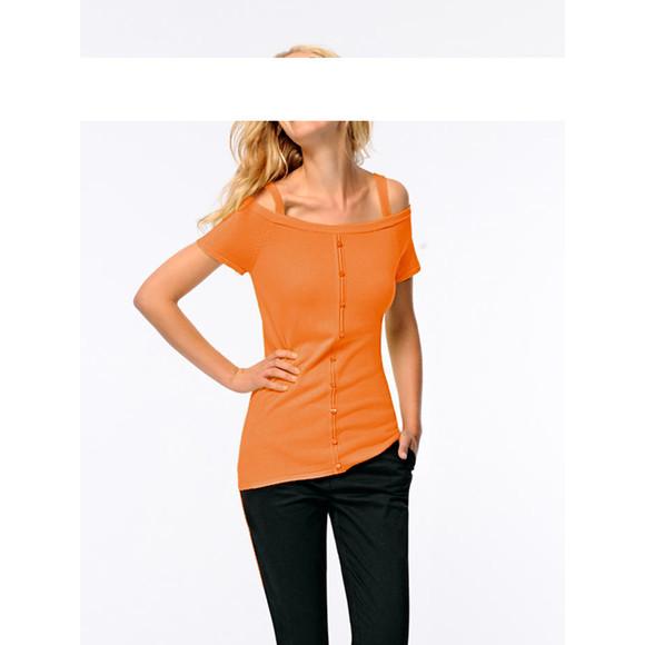 Carrépullover, orange von Heine - Best Connections