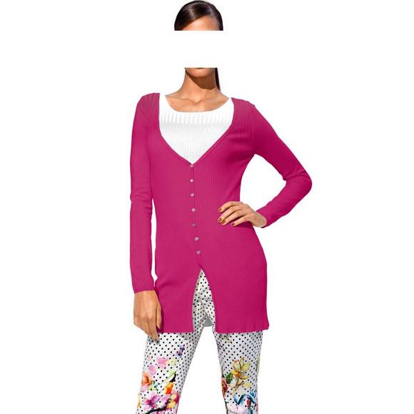 Optimizer-Strickjacke, pink von CLASS INTERNATIONAL