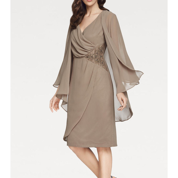 Cocktailkleid+Bluse, taupe von Ashley Brooke