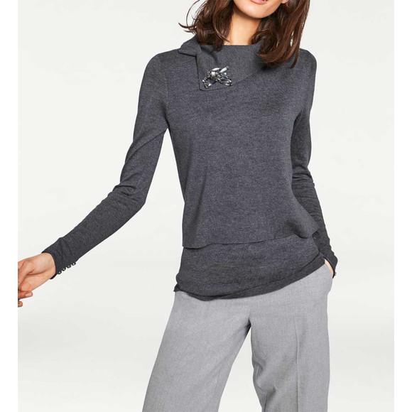 2-n-1-Pullover, grau von Rick Cardona