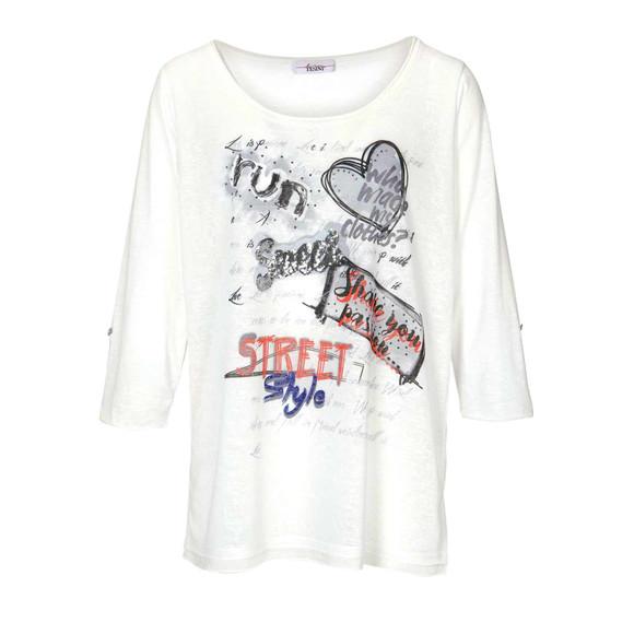 Shirt m. Pailletten, offwhite von Linea Tesini