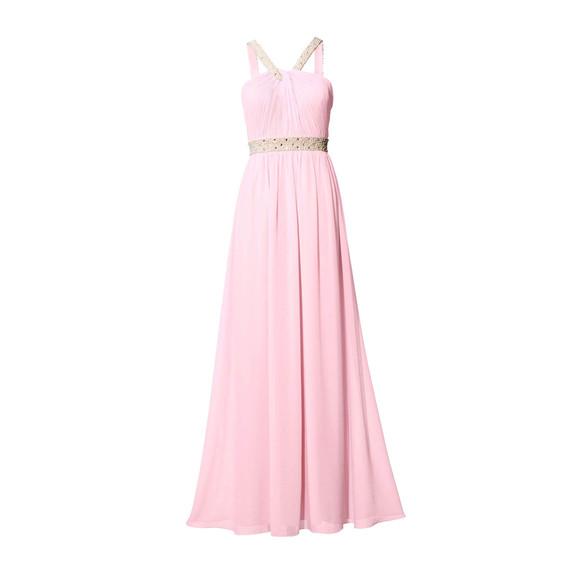 Abendkleid m. Perlen-Stickerei, rosé von Ashley...