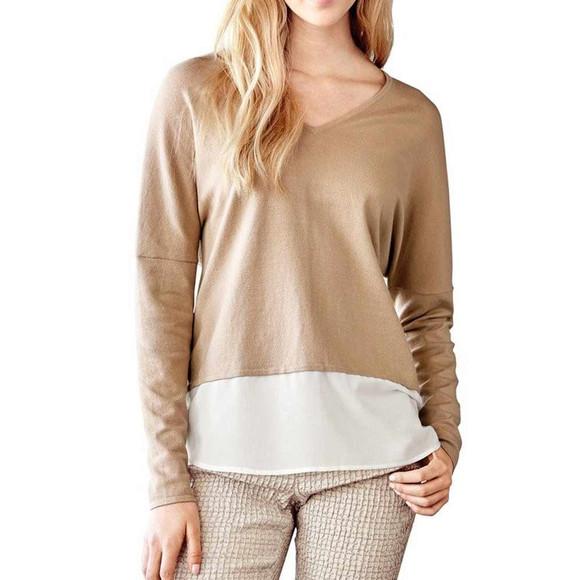 2-in-1-Feinstrickpullover, sand-creme von Travel Couture...