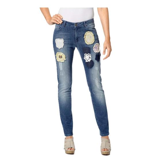 Damen-Jeans, blau-used von Heine