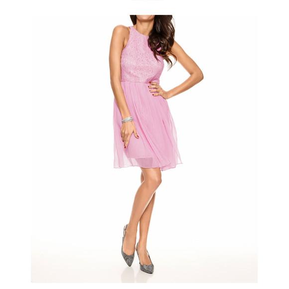 Spitzen-Chiffonkleid, rosé von Ashley Brooke event