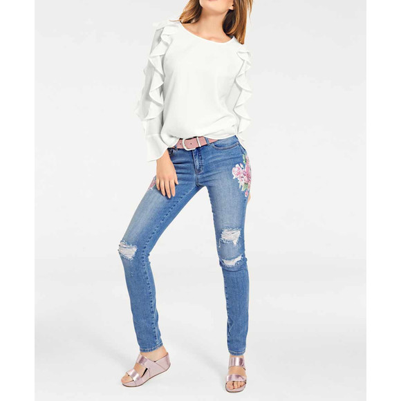 Damen-Slim-Jeans, hellblau von Heine - Best Connections