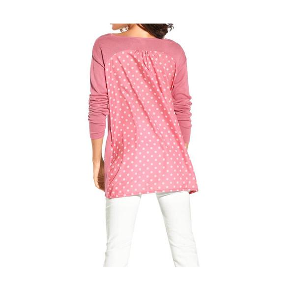 rosé-weiß Travel Couture by Heine Damen Pullover mit Satin