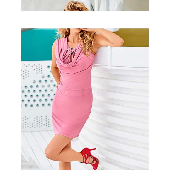 Kleid m. Zierelement, rose von Mandarin