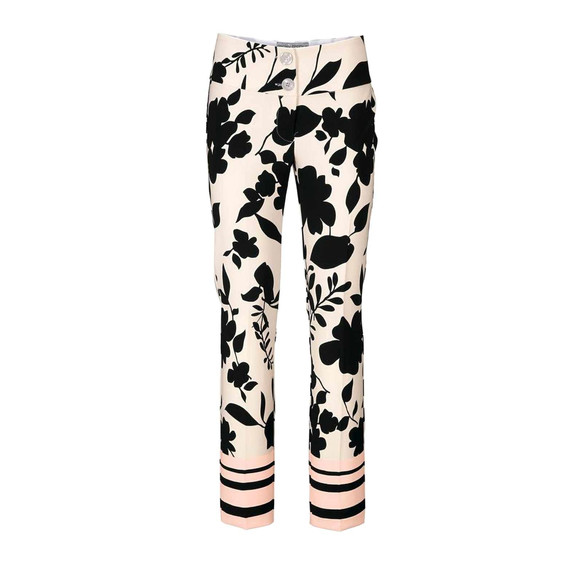 Optimizer-Druckhose, schwarz-offwhite von Ashley Brooke