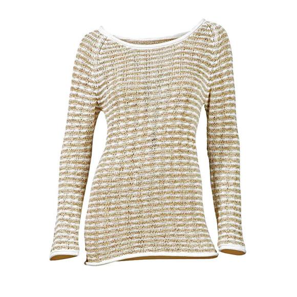 Bändchengarn-Pullover, weiß-beige von Heine -...
