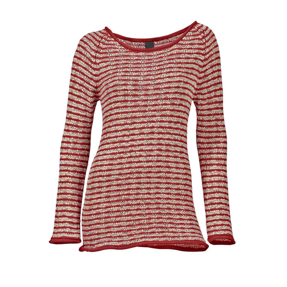 Bändchengarn-Pullover, rot-beige von Heine - Best...