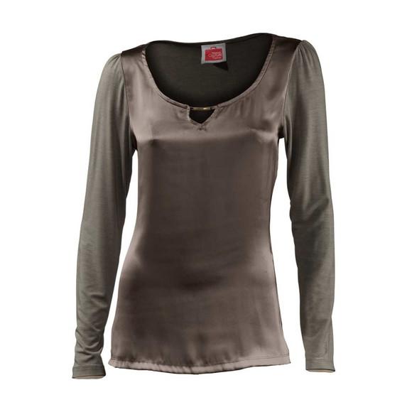 Blusenshirt, taupe von Travel Couture by Heine